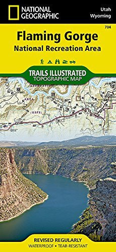 Flaming Gorge National Recreation Area (National Geographic Trails Illustrated Map)