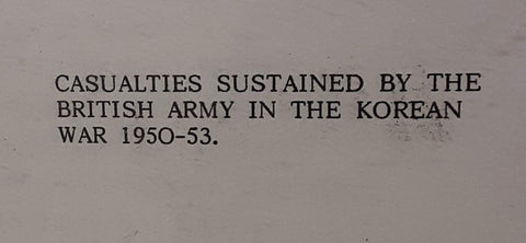 Casualties Sustained by the British Army in the Korean War, 1950-53