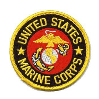 us topo - U.S. Marines: An Embroidered Iron-On Patch (Two-Pack) - Wide World Maps & MORE! - Art and Craft Supply - Flag It - Wide World Maps & MORE!