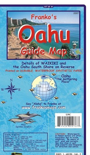 Oahu Guide Map - Laminated