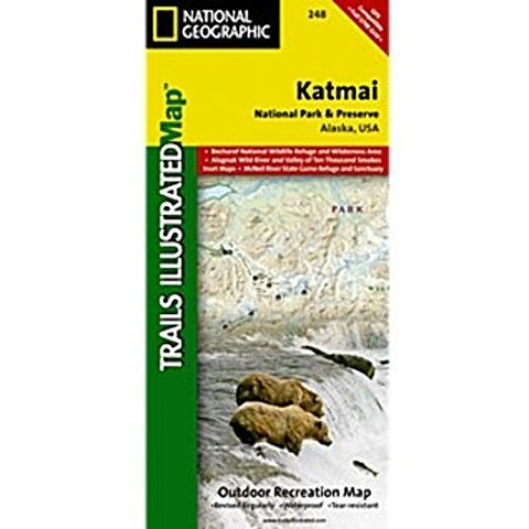 Trails Illustrated Map Katmai National Park and Preserve