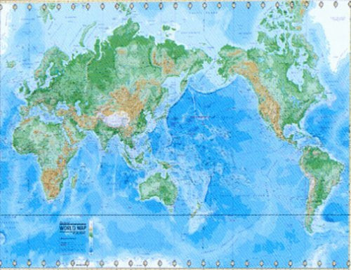 us topo - The World Physical Laminated Map: Deluxe Edition - Wide World Maps & MORE! - Book - Wide World Maps & MORE! - Wide World Maps & MORE!
