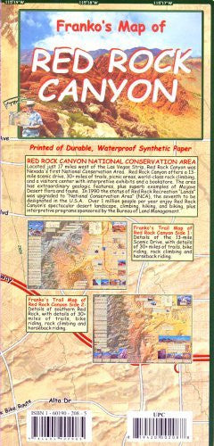Franko's Map of Red Rock Canyon (NV)