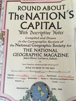 Round About the Nation's Capital with Descriptive Notes (National Geographic Magazine, Vol. CIX, No. 4, April 1956) - Wide World Maps & MORE! - Book - Wide World Maps & MORE! - Wide World Maps & MORE!