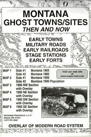 Montana, Ghost Towns, 5 Map Set Then & Now - Wide World Maps & MORE! - Book - Wide World Maps & MORE! - Wide World Maps & MORE!