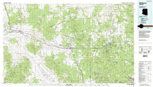 Williams Arizona 1:100,000-scale USGS Topographic Map: 30 X 60 Minute Series (1983)