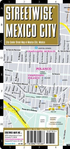 us topo - Streetwise Mexico City Map - Laminated City Center Street Map of Mexico City, MX - Folding pocket size travel map with metro map - Wide World Maps & MORE! - Book - StreetWise - Wide World Maps & MORE!