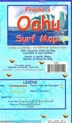 us topo - Franko's OAHU Surf Map - Wide World Maps & MORE! - Book - FrankosMaps - Wide World Maps & MORE!