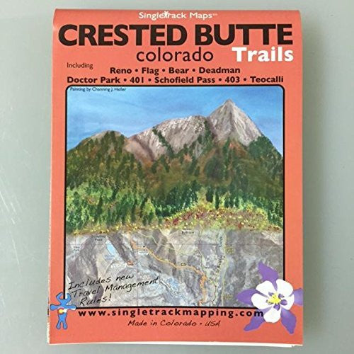 Crested Butte Colorado Trails: Reno, Flag, Bear, Deadman, Doctor Park, 401, Schofield Pass, 403, Teocalli