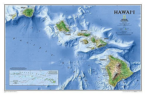 us topo - Hawaii [Laminated] (National Geographic Reference Map) - Wide World Maps & MORE! - Book - National Geographic - Wide World Maps & MORE!