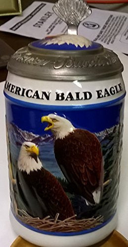 us topo - 1999 LIMITED EDITION BUDWEISER LIDDED AMERICAN BALD EAGLE SERIES STEIN CS365 - SPRING STEIN - Wide World Maps & MORE! - Kitchen - Budweiser - Wide World Maps & MORE!