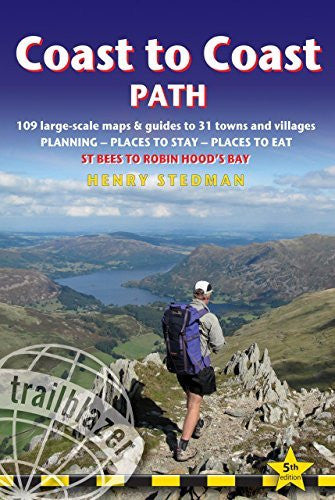 us topo - Coast to Coast Path: British Walking Guide With 109 Large-Scale Walking Maps, Places To Stay, Places To Eat - Wide World Maps & MORE! - Book - Brand: Trailblazer Publications - Wide World Maps & MORE!