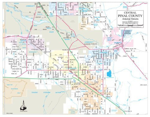 us topo - Central Pinal County Arterial Streets Gloss Laminated - Wide World Maps & MORE! - Book - Wide World Maps & MORE! - Wide World Maps & MORE!