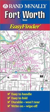 Rand McNally Fort Worth Easyfinder Map - Wide World Maps & MORE! - Book - Wide World Maps & MORE! - Wide World Maps & MORE!
