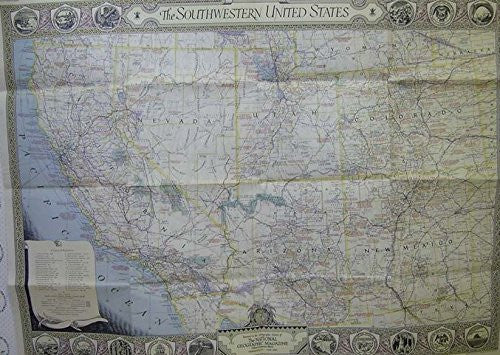 Map of The Southwestern United States 1940 and 1948 (map only)