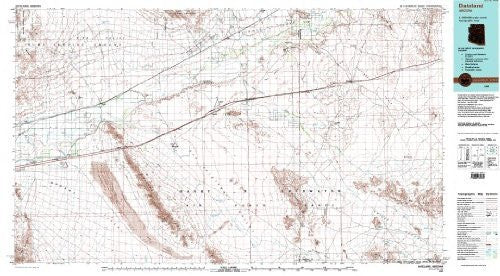 Dateland Arizona 1:100,000-scale Topographic USGS Map: 30 X 60 Minute Series (1980)