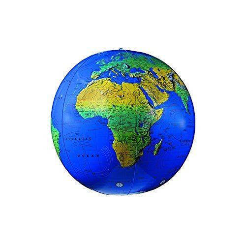 REPLOGLE GLOBES INFLATABLE TOPOGRAPHICAL GLOBE 12IN (Set of 12)