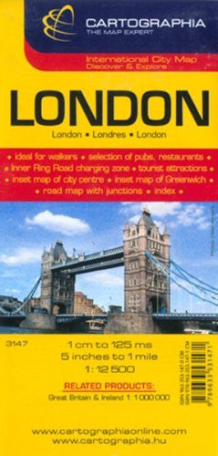 London (Country Maps) (English, French and German Edition)