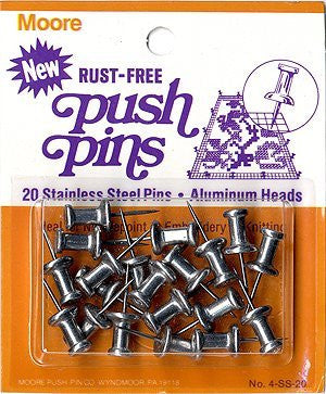 Rust-Free Push-Pins