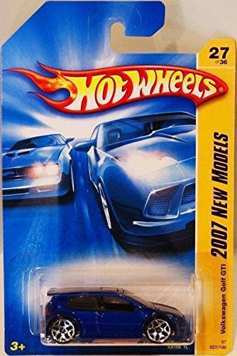 us topo - Volkswagen Golf GTI Blue Hot Wheels (2007 First Editions) - Wide World Maps & MORE! - Toy - Hot Wheels - Wide World Maps & MORE!