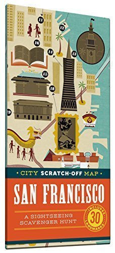 City Scratch-off Map: San Francisco: A Sightseeing Scavenger Hunt by Christina Henry de Tessan (2015-09-15)