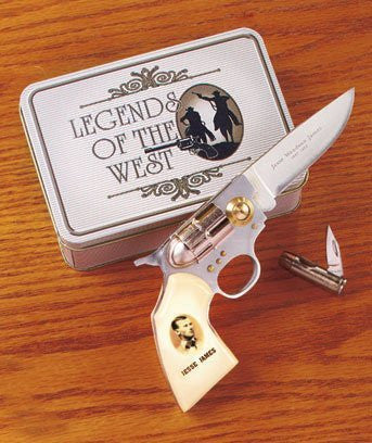 Jesse James Legends of the West Gun Knife Set