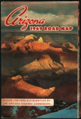 Arizona 1969 Road Map