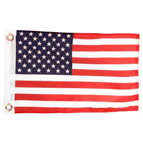 us topo - Ruffin Us Flag 12x18in Printed Polyester - Wide World Maps & MORE! - Lawn & Patio - Ruffin - Wide World Maps & MORE!