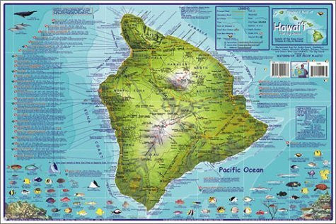 Franko's Dive Map of Hawaii, the Big Island