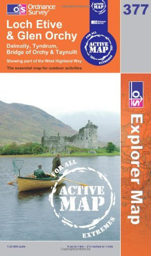 Loch Etive and Glen Orchy (OS Explorer Map Active)