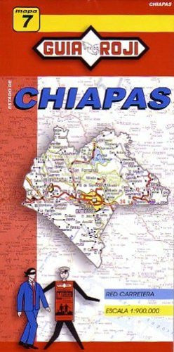 Chiapas State Map by Guia Roji (English and Spanish Edition)