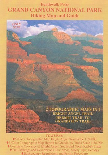 us topo - Grand Canyon National Park Map & Guide - Wide World Maps & MORE! - Book - EARTHWALK PRESS - Wide World Maps & MORE!
