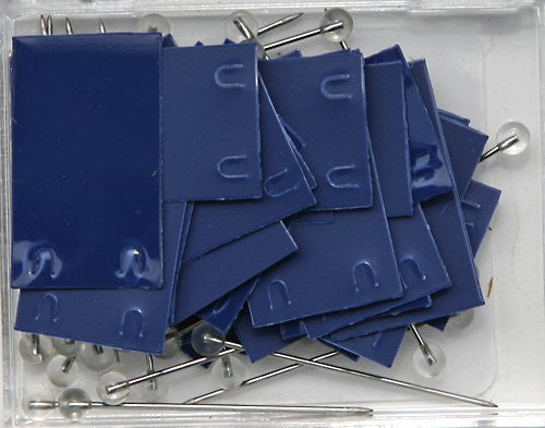 Moore Blue Rectangle Map Push Pins