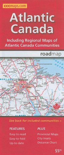 us topo - Atlantic Canada Road Map - Wide World Maps & MORE! - Book - MapArt - Wide World Maps & MORE!
