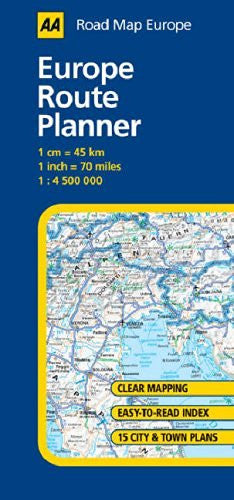 us topo - Europe Route Planner (AA Road Map Europe) - Wide World Maps & MORE! - Book - Wide World Maps & MORE! - Wide World Maps & MORE!