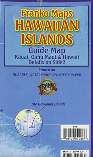 us topo - Franko's Hawaiian Islands Guide Map - Wide World Maps & MORE! - Book - 699 - Wide World Maps & MORE!