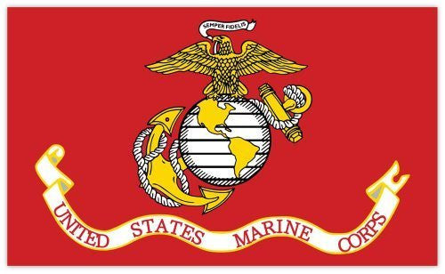 "United States Marine Corps Marines flag sticker decal 5"" x 3"""