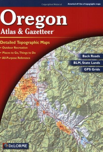 us topo - Oregon Atlas and Gazetteer - Wide World Maps & MORE! - Book - Abu Garcia - Wide World Maps & MORE!