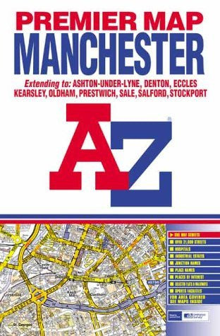 Premier Map of Manchester (A-Z Street Maps & Atlases)