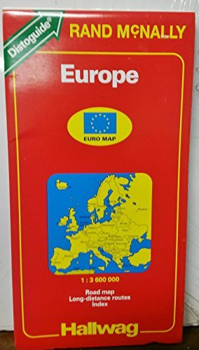 Hallwag Road Map/Distoguide: Europe: 1994 - Wide World Maps & MORE! - Book - Wide World Maps & MORE! - Wide World Maps & MORE!
