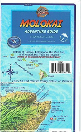 us topo - Molokai Hawaii Adventure & Dive Guide Franko Maps Waterproof Map - Wide World Maps & MORE! - Book - FrankosMaps - Wide World Maps & MORE!