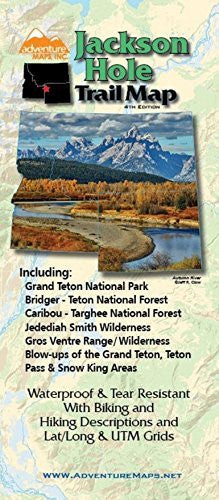 Adventure Maps Jackson Hole Trail Map