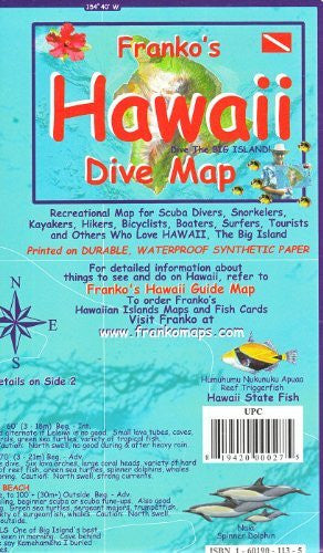 us topo - Franko's Dive Map of Hawaii, the Big Island - Wide World Maps & MORE! - Book - FrankosMaps - Wide World Maps & MORE!
