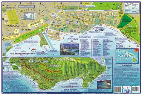 us topo - Franko's Guide Map of Waikiki and Oahu - Wide World Maps & MORE! - Book - 699 - Wide World Maps & MORE!