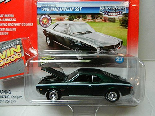 Qiyun Johnny Lightning Muscle Cars USA Green 1968 AMC Javelin SST NIP - Wide World Maps & MORE! - Toy - Qiyun - Wide World Maps & MORE!