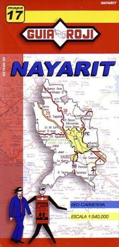 Nayarit State Map by Guia Roji