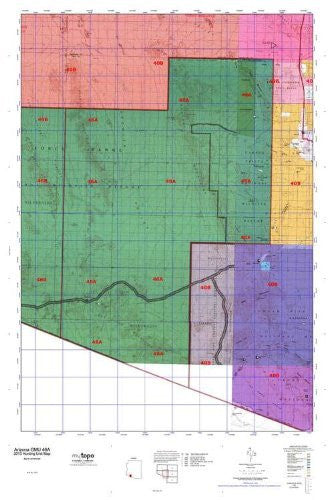 Arizona GMU 46A Hunt Area / Game Management Units (GMU) Map