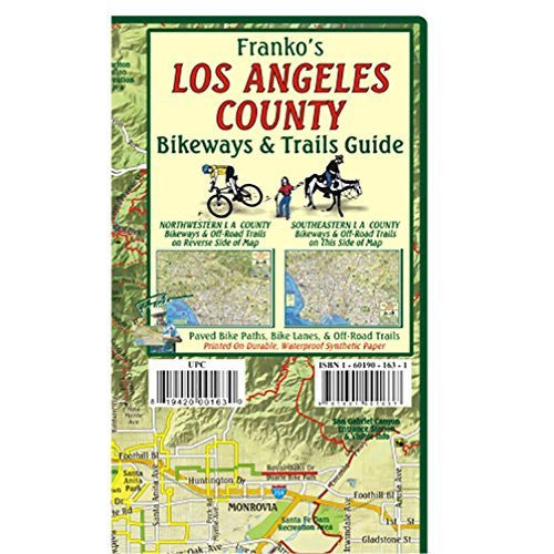 FRANKO MAPS MAP FML CA LA COUNTY TRAILS