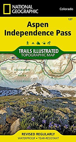 us topo - Aspen, Independence Pass (National Geographic Trails Illustrated Map) - Wide World Maps & MORE! - Book - National Geographic Books - Wide World Maps & MORE!