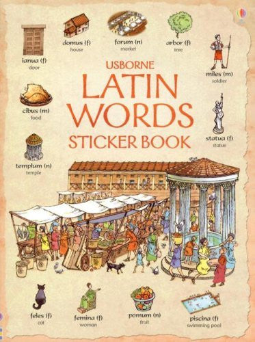 Usborne Latin Words Sticker Book [With Stickers] (Latin Edition) - Wide World Maps & MORE! - Book - Wide World Maps & MORE! - Wide World Maps & MORE!